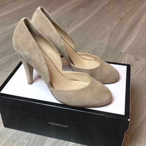 Nine West Tan Cream Heels